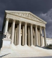 Supreme Court Washington DC Storm