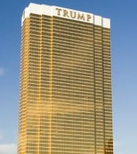 Las Vegas - November 11, 2014: Trump International Hotel tower on the Las Vegas Strip,