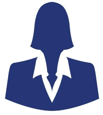 Blue businesswoman avatar profile picture