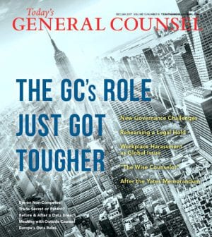 Today's General Counsel Dec-Jan 2017