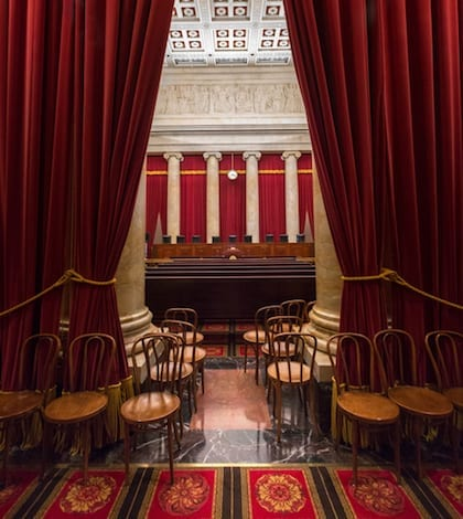 Washington, DC USA - October 23, 2015: Supreme Court of the United States Entry to Courtroom