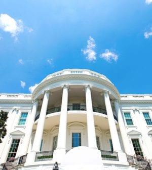 beautiful close up White House, Washington DC USA.