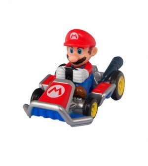 Adelaide, Australia - March 27, 2015: A studio shot of a Mario Kart diecast vehicle  from the Video and Animated Nintendo Series. Mario Kart is an extremely popular videogame worldwide with children.
