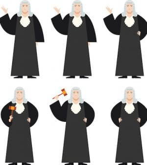 Vector image of the Set of Judges