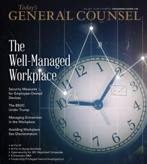 Today's General Counsel October-November 2017