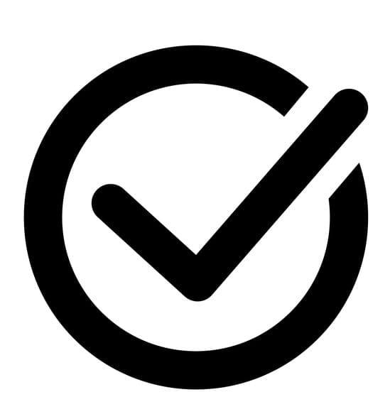 Check black icon vector mark icon in a circle eps 10