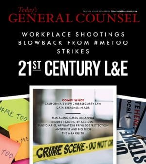 Today's General Counsel Fall 2019