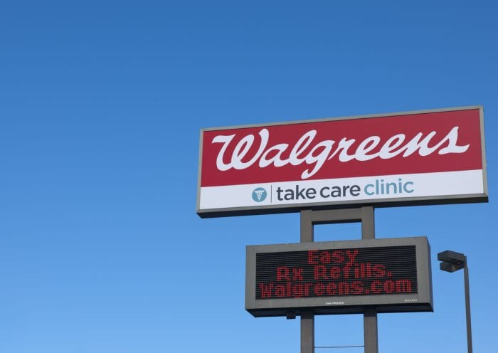 knoxville, tn usa - february 25, 2012: walgreens store sign located in knoxville, tn usa.