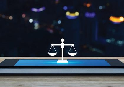 Justice scales litigation