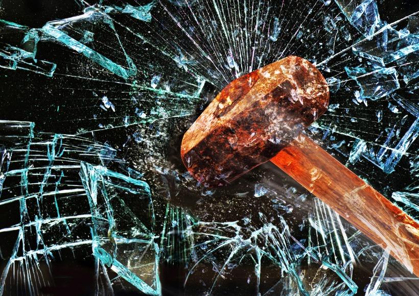 hammer-through-window-picture-id497653044