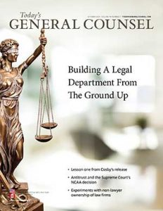 Today's General Counsel, October 2021