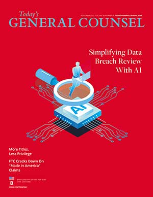 Today's General Counsel, November 2021 magazine